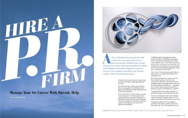 Shoebox PR is in Professional Artist Magazine