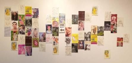 Huddle - A Postcard Show at Shoebox Projects. Photo Credit. Kristine Schomaker