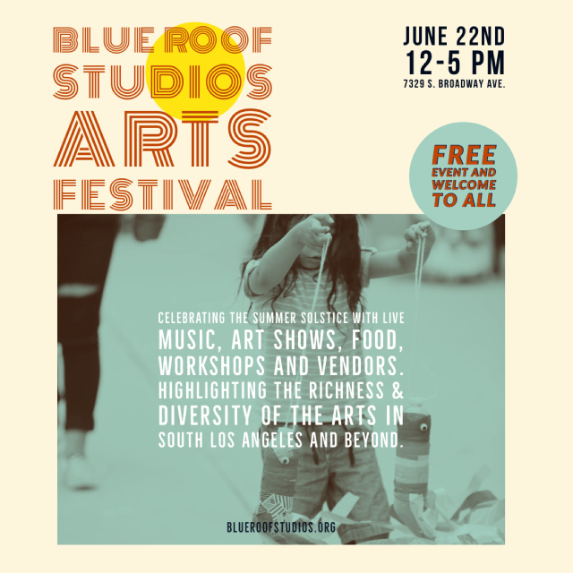 Blue Roof Studios Arts Festival 2019 June 22nd